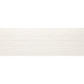 Tau Ceramica Sun dunas white Wandfliese 25x75 glänzend