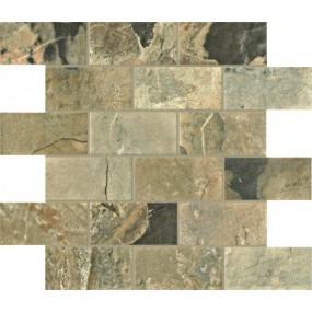 Unicom Starker Natural Slate autumn UNI-4017  Mosaik Brick 30x30 geschiefert