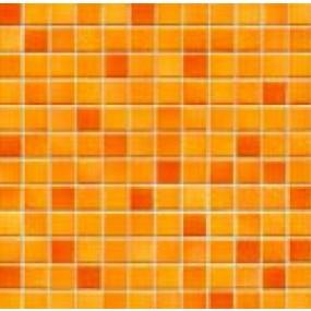 Jasba Fresh sunset orange-mix JA-41211 H Mosaik 2x2 32x32 glänzend