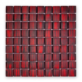 Bärwolf Jewelry ruby red BA-GL-13002 Glas Mosaik 3x3 30x30 glänzend