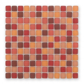 Bärwolf Cushion red mix BA-GL-6003 Glas Mosaik 2,3x2,3 30x30 matt