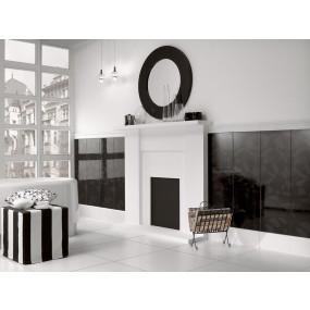 Villeroy und Boch BiancoNero black 1310 BW98 0 Dekor 30x90 glänzend
