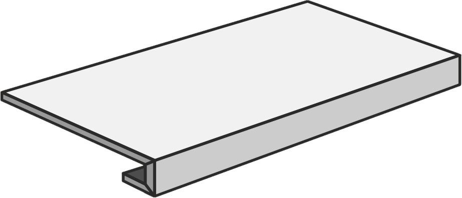 Unicom Starker DEBRIS SOOT GRA.C/R UNI-0008189 Treppenfliese 30x60 Matt