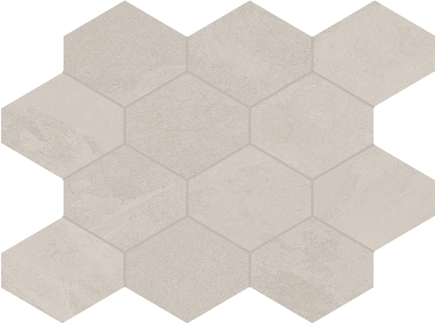 Unicom Starker BRAZILIAN SLATE Oxford White Hexagon UNI-0008491 Mosaik 25x34 Matt