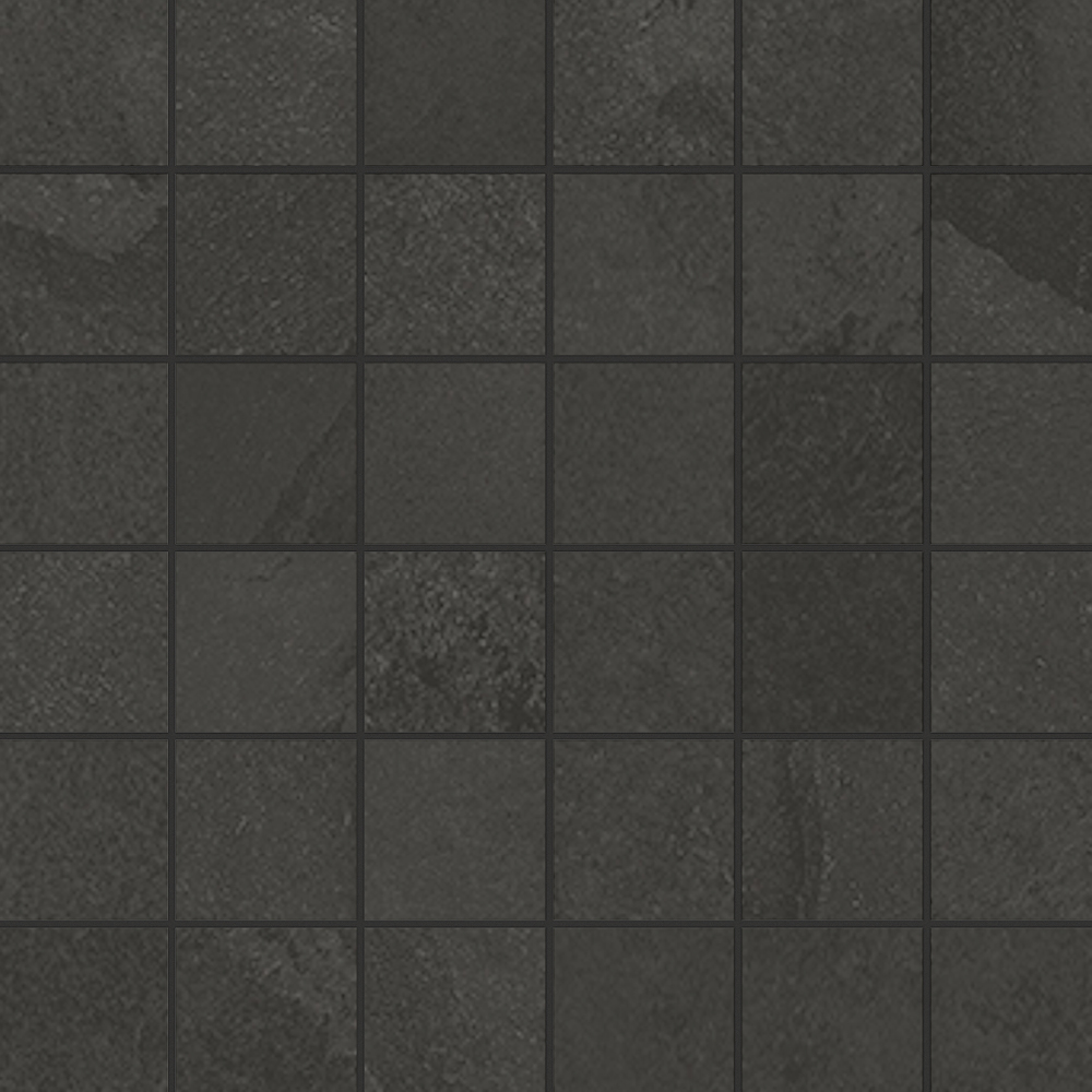 Unicom Starker BRAZILIAN SLATE Rail Black UNI-0008485 Mosaik 30x30 Matt