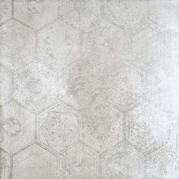 Porcelaingres Soft Concrete Silver HEXAGON X606324X8 Boden-/Wandfliese 60x60 MATT