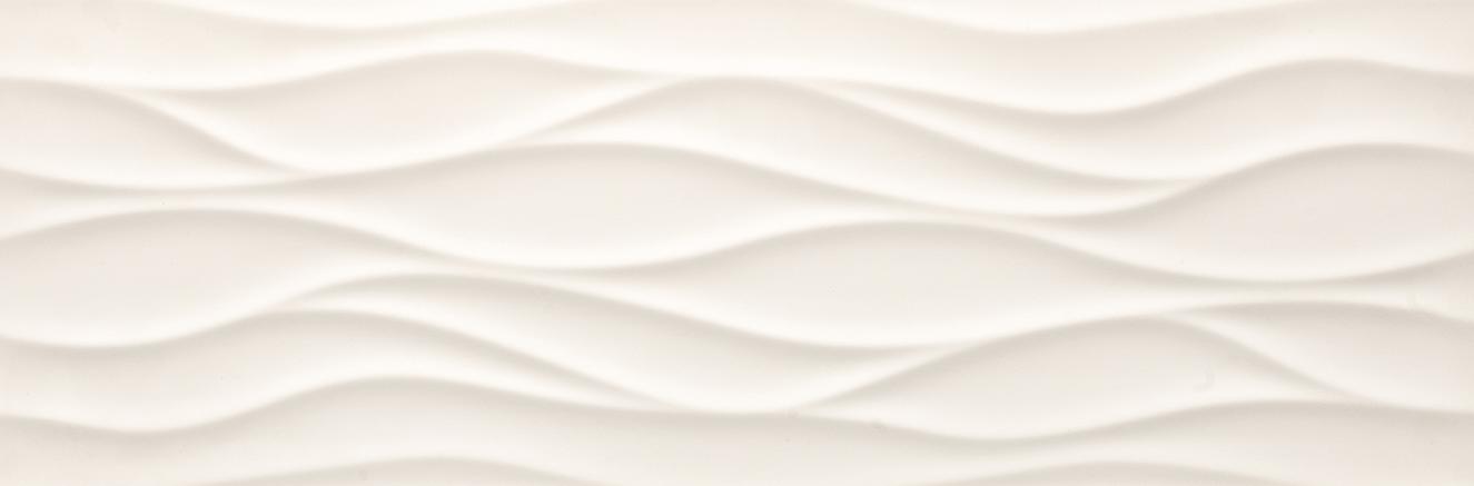Tau Ceramica Sun brisa white Wandfliese 25x75 glänzend