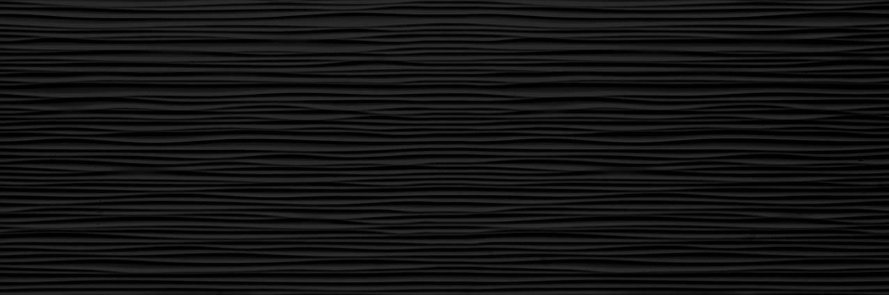 Tau Ceramica Sun dunas black Wandfliese 25x75 matt