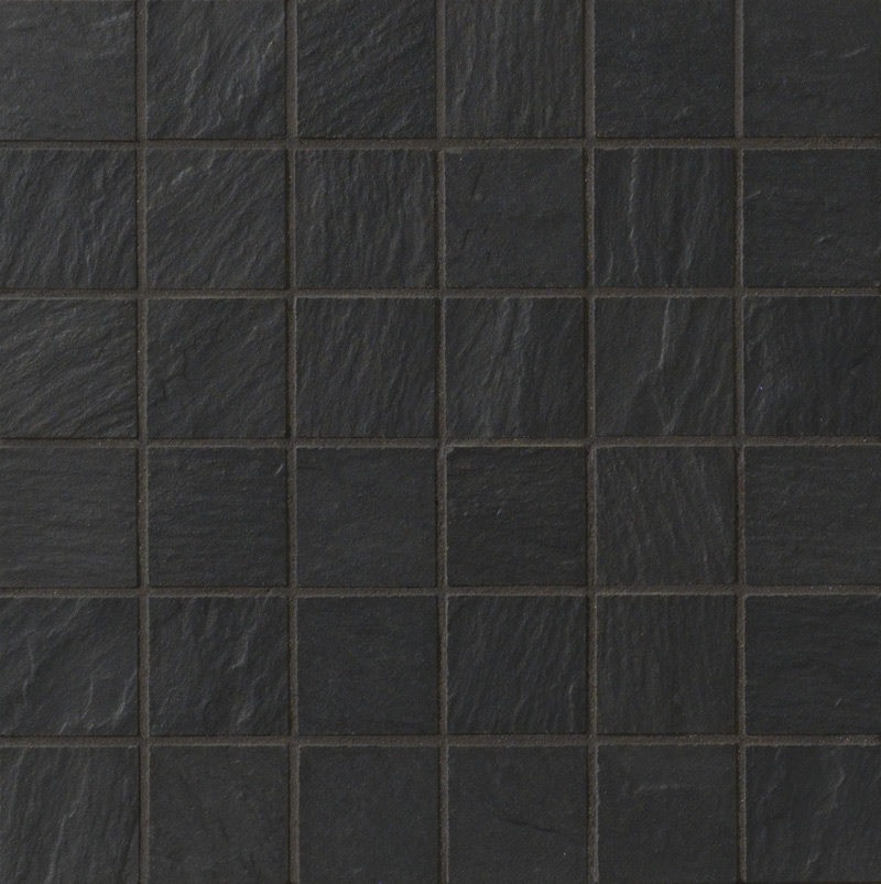 Ariostea Pietre High-Tech  Black Ardesia ARI-BLIST277 Mosaik 30x30 strukturiert R10
