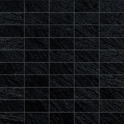 Ariostea Pietre High-Tech  Black Ardesia ARI-MBST277 Mosaik 30x30 strukturiert R10