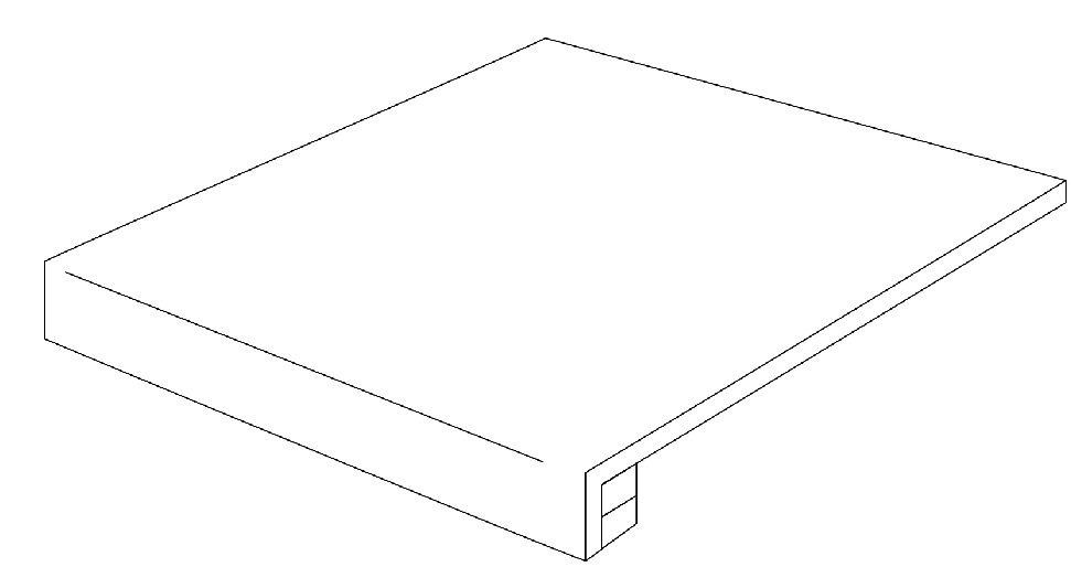 Ariostea Legni High-Tech Rovere Scuro ARI-PGRA12388 Stufe 120x34 antik R11 Holzoptik