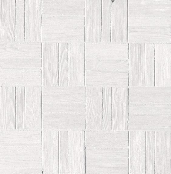 Ariostea Legni High-Tech Rovere Bianco ARI-DOMM342 Mosaik 30x30 antik R10 Holzoptik