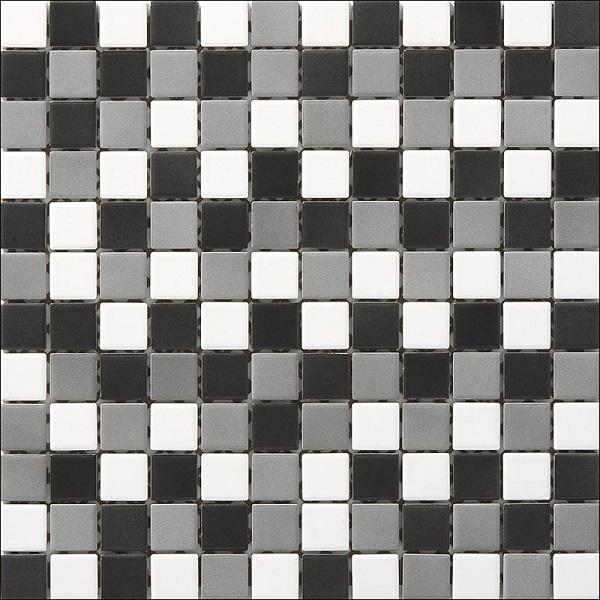 Engers Ohio weiß-grau-schwarz EN-OHI310 Mosaik 2,5x2,5 30X30 matt