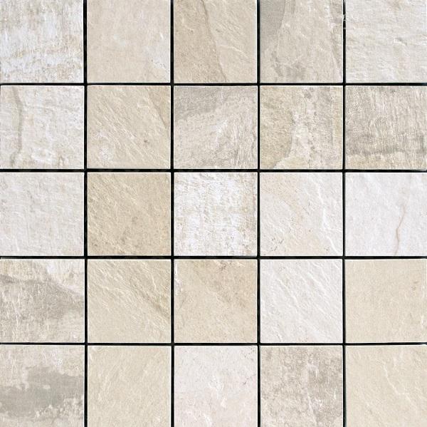 Del Conca Nat Bianco DEL-HNT10-MO Mosaik 30x30 geschiefert R12 A+B