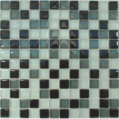 Glas Mosaik 2,3x2,3 schwarz-weiß mix FP-SDA-802 30x30
