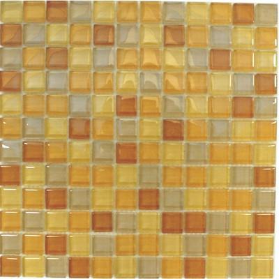 Glas Mosaik 2,3x2,3 gelb mix FP-SDA-803 30x30