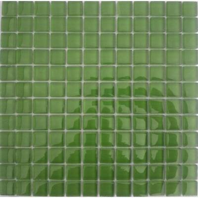 Glas Mosaik 2,3x2,3 grün FP-Q8004-F 30x30