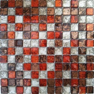 Glas Mosaik 2,3x2,3 rot mix FP-CondorM 30x30