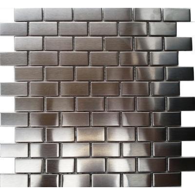 Metall Mosaik 2,3x4,8 silber FP-S025 30x30