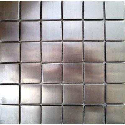 Metall Mosaik 4,8x4,8 silber gebürstet FP-S031 30x30