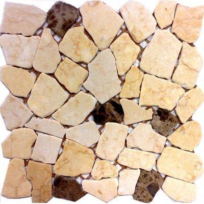 Naturstein Polygonal travertin coffee FP-Poly A020+016SP 30x30