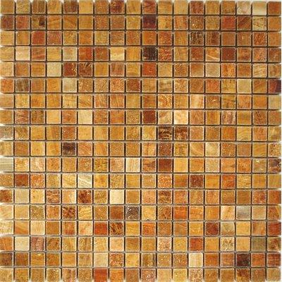 Naturstein Mosaik 1,5x1,5 braun FP-DS-007 30x30 poliert