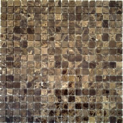 Naturstein Mosaik 1,5x1,5 braun FP-DD-012L 30x30 poliert