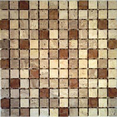 Naturstein Mosaik 2,3x2,3 braun mix FP-RS083 30x30 matt