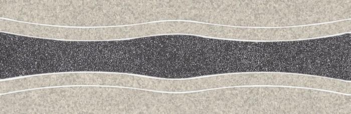 Paradyz Arkesia grafit/grys PAR-FZD252057  Dekor 30x10 matt