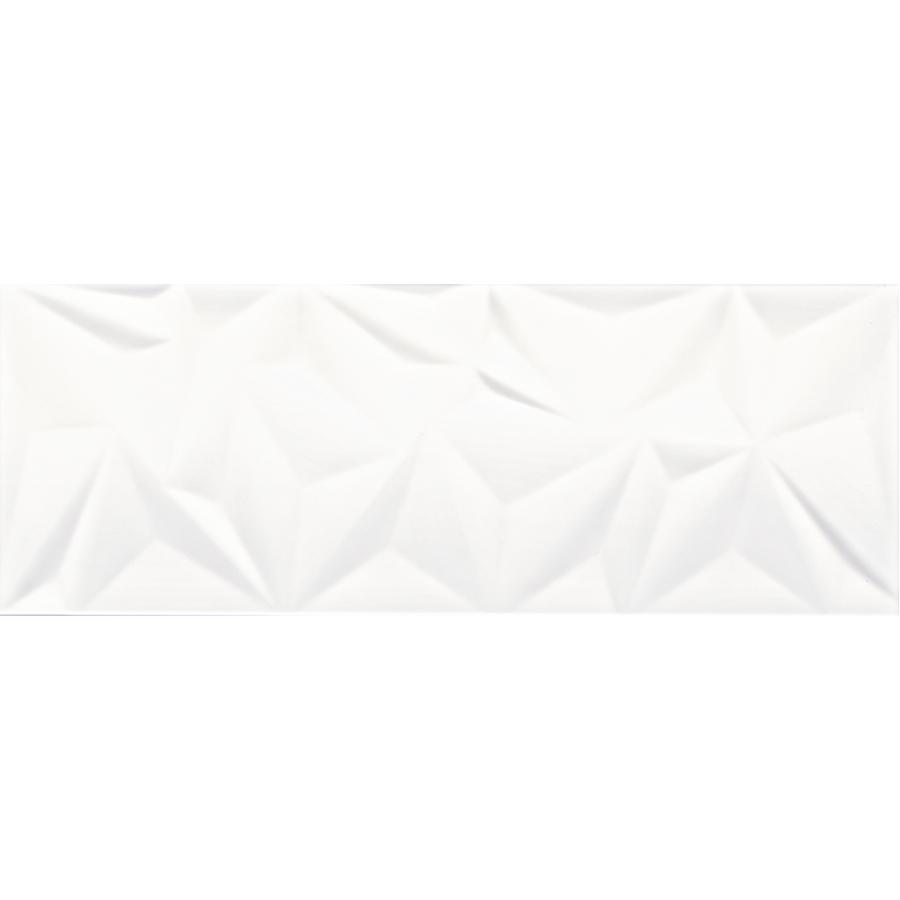 Cinque Fracture White Wandfliese 30x80 glänzend