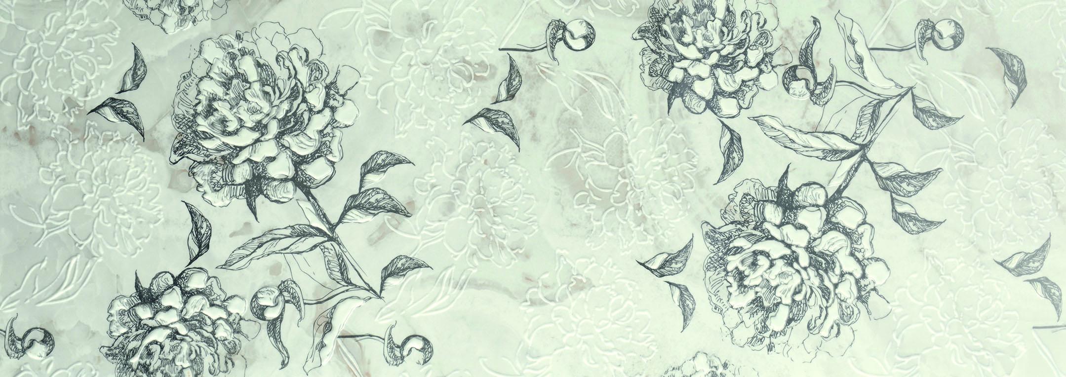 Cinque Genua Ice Floral Dekor DIGI-REC 40X120cm
