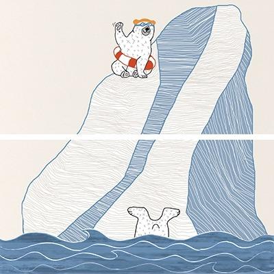 Steuler Tide - Arctic Bears bunt Y59230001 Dekorfliese 20x40 matt