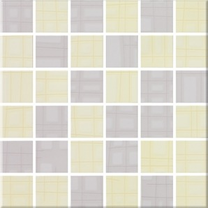 Steuler Sketch pastellgelb Y59268001 Mosaik 30x30 glänzend