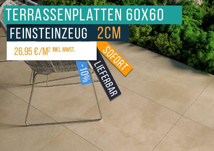 Terrassenplatten 2cm 60x60